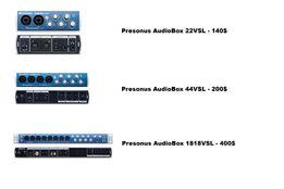 Аудиоинтерфейс Presonus AudioBox 22VSL, 44VSL, 1818VSL