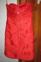 Платье вечернее,выпускное красное новое!