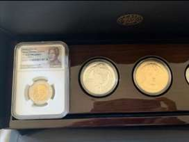 2018 Mandela 100th birthday 3 coin set