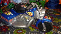 Мотоцикл детский трёхколёсный на аккумуляторе (электромобиль)