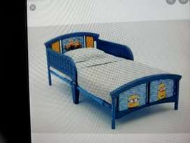 Toddler bed with mattress  and toy organiser  (brand new)negotiable