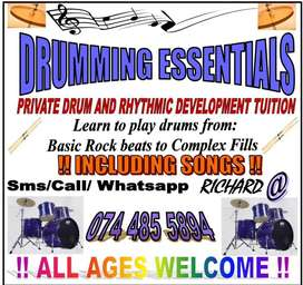 DRUMMING ESSENTIALS-Private Drum and Rhythmic Development Tuition