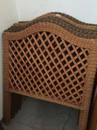 Image of Single Bed Cane Headboards