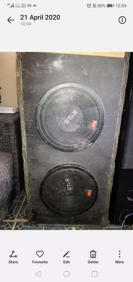 Two 10 inch starsound subs svc