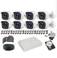 Zestaw 8 Kamer full HD 2mpx szerokokątnych . Monitoring z podglądem