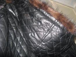 Зимняя теплая женская кожаная куртка