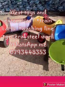 West toys train carts