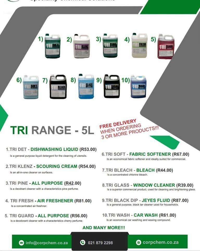 House Hold & industrial Chemicals with FREE DELIVERY!!! 0