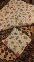Детское одеяло с подушкой из овчины