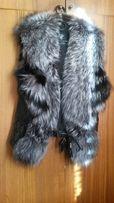 Продам poзкошный меховой жилет из чернобурки бренда stella rossa