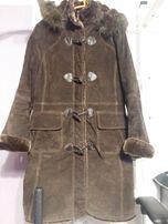 Распродажа Пальто - дубленка натуральная замша, зимове пальто дублянка