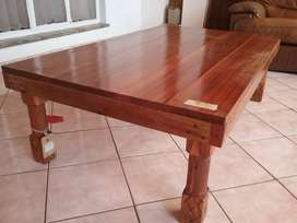 Solid exotic hardwood hand crafted coffee tables