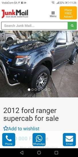 2012 Ford Ranger Supercab for sale in immaculate condition