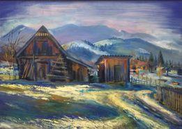 Подарок-живопись, картина маслом, пейзаж /олійний живопис на полотні