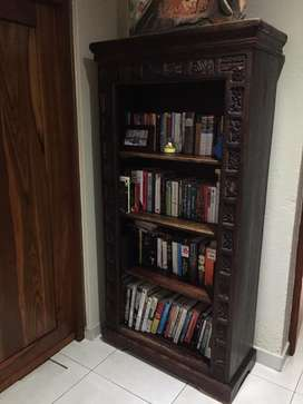 Solid wood book shelf from Thailand