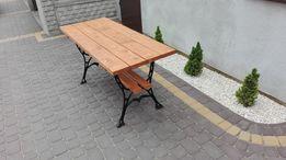 Stół ogrodowy parkowy żeliwny duży, meble ogrodowe, 60x150