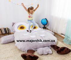 Детская кровать матрас мягкая игрушка Панда Лиса Совушка Тотор Миньйон