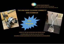 ELECTRIC DRIVEN TAR AND ROOF CLEANING COMBO