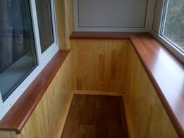 Вагонка. Обшивка балконов под ключ.