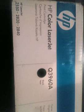 Hp color laserjet print cartridge q3960A.black