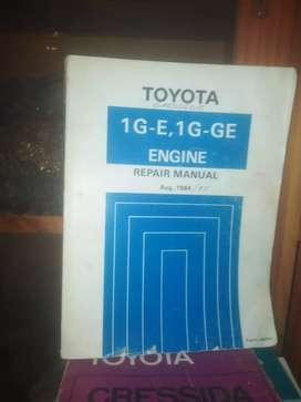 Cressida , 1984 / 85, engine repair book