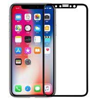 Защитное стекло 5D iPhone X для айфон/Black/White 5 6 7 8 + s x plus