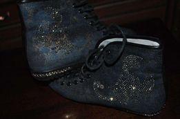 Кеды (ботинки) со стразами Р. 36-37