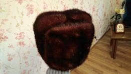 Шапка норковая мужская коричневая