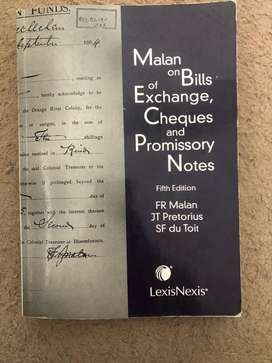Malan on Bills of Exchange, Cheques and Promissory Notes 5th Edition