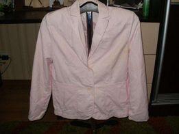 Красивый розовый пиджак с вышивкой и паетками 54 р.