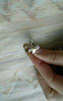 Серебряное кольцо 925 пробы+ золотая пластина 375 пробы