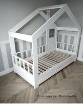 Łóżko drewniane domek styl szwedzki