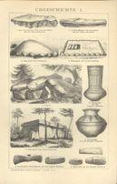 ARCHEOLOGIA oryginalne XIX w. grafiki do wystroju wnętrza