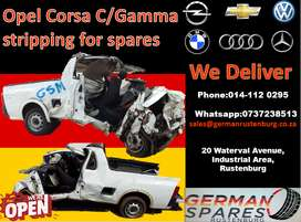 Opel corsa C/Gamma stripping for used spares