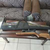 Image of Air Rifle Gamo 440 and Nikko Sterling Scope and bag