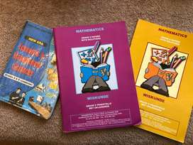 Grade 8 and 9 Mathematics text books and EMS text book