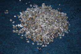 Kwarcowy grys żwir żwirek piasek do akwarium podłoże, kwarc 6-10mm