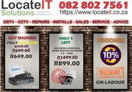 DSTV and CCTV Installations, Sales, Service, Repairs
