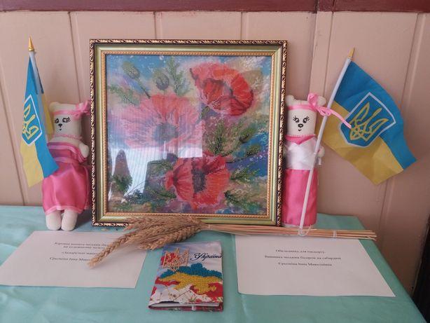 Картина вышитая чешским бисером Маки Терновка - изображение 1