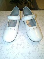 Школьные белые лаковые туфельки GIRLS