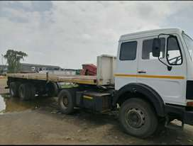 Mercedes truck with trailer