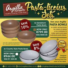ARGILLA POTTERY- DINNER MADE EASY