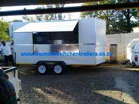Mobile kitchen trailers and mobile toilets