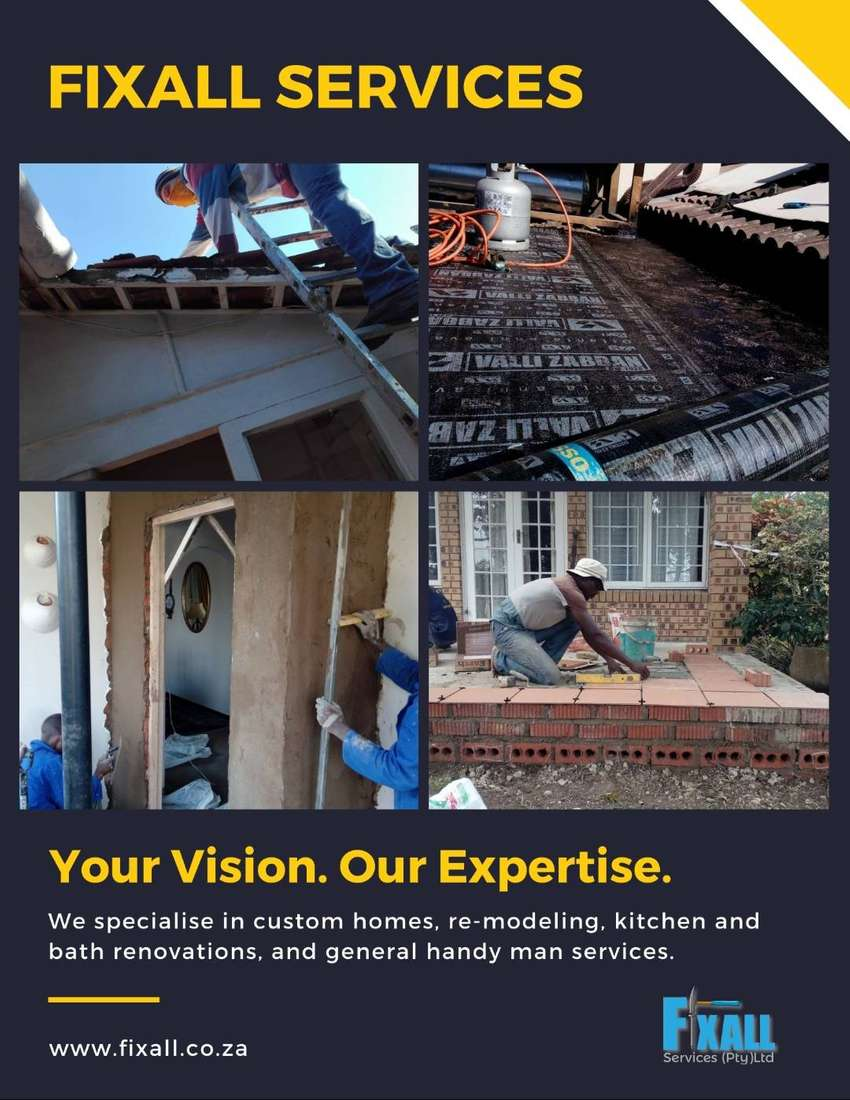 Building, renovations, and general handyman services by Fixall Service