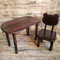 Детский столик и стульчик из дерева. Для кормления. Стол и стул.