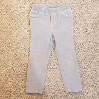 Spodnie sztruks szaro- niebieskie GAP 3 lata