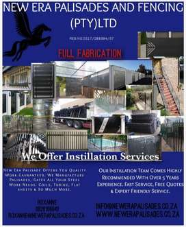Palisade fencing,steel work and installation