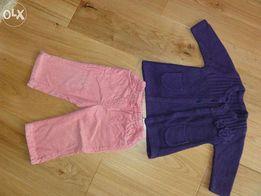 Sweterek/plaszczyk i spodnie rozmiar 3-12 mc