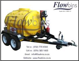 NEW 600L - 2500L 12V DIESEL BOWSER TRAILER - PUMP CONTAINER TANK 1000L