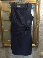 Красивое вечернее платье атлас, 46 размер.